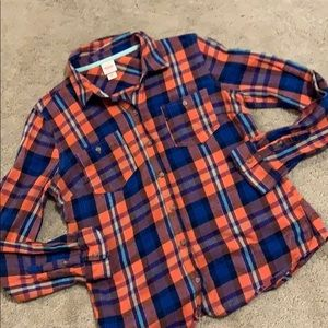 Cute plaid long sleeve shirt size medium